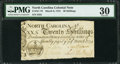 Colonial Notes:North Carolina, North Carolina March 9, 1754 20s PMG Very Fine 30.. ...