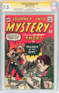Silver Age (1956-1969):Superhero, Journey Into Mystery #87 Signature Series (Marvel, 1962) CGC VF- 7.5 Off-white to white pages....