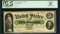 Fr. 1 $5 1861 Demand Note PCGS Apparent Very Fine 30
