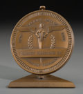 Bronze:American, A Harvey Firestone, Sr. Bronze Racing Medallion with Stand, 20thcentury . 3-5/8 inches high (9.2 cm). ...