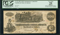 Confederate Notes:1862 Issues, CT39/290A $100 1862 Counterfeit.. ...