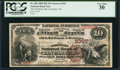 National Bank Notes:Pennsylvania, Lancaster, PA - $10 1882 Brown Back Fr. 482 The Northern NB Ch. # 3367. ...