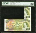 Canadian Currency: , Single Fold Error BC-50b $20 1969.. ...