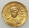 Ancients: Zeno (AD 474-491). AV solidus (4.18 gm). XF, clipped