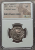 Ancients:Roman Provincial , Ancients: SYRIA. Antioch. Philip II (AD 247-249). BI tetradrachm.NGC XF....