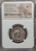 Ancients:Roman Provincial , Ancients: SYRIA. Antioch. Philip II, as Caesar (AD 244-247). BItetradrachm. NGC XF....