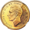 Great Britain, Great Britain: George VI gold Proof 5 Pounds 1937 PR64 Ultra CameoNGC,...