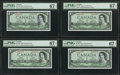Canadian Currency: , BC-29b $1 1954 Devil' Face Eight Consecutive Examples.. ... (Total:8 notes)