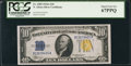 Small Size:World War II Emergency Notes, Fr. 2309 $10 1934A North Africa Silver Certificate. PCGS Superb Gem New 67PPQ.. ...
