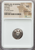 Ancients:Greek, Ancients: SARONIC ISLANDS. Aegina. Ca. 525-475 BC. AR stater. NGCVG, countermark....