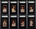 Baseball Cards:Lots, 1912 T207 Recruit Tobacco Baseball Card Collection (10Different)....