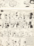 Original Comic Art:Comic Strip Art, Richard F. Outcault Buster Brown Sunday Comic Strip OriginalArt dated 10-29-16 (Philadelphia Record, 1916).... (Total: 2Original Art)