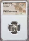 Ancients:Roman Imperial, Ancients: Vespasian (AD 69-79). AR denarius. NGC XF....