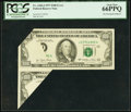 Error Notes:Foldovers, Fr. 2168-J $100 1977 Federal Reserve Note. PCGS Gem New 66PPQ.. ...