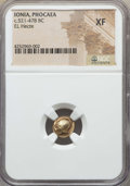 Ancients:Greek, Ancients: IONIA. Phocaea. Ca. 521-478 BC. EL sixth stater or hecte.NGC XF....