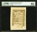 Colonial Notes:Rhode Island, Rhode Island May 1786 6d PMG Gem Uncirculated 65 EPQ.. ...