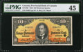 Canadian Currency: , Montreal, PQ- La Banque Provinciale Du Canada $10 Sep. 1, 1936 Ch.# 615-18-06.. ...