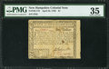 Colonial Notes:New Hampshire, New Hampshire April 29, 1780 $1 PMG Choice Very Fine 35.. ...