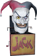 Memorabilia:Miscellaneous, Evil Jack in a Box Scary Farm Prop (c. 2000s)....