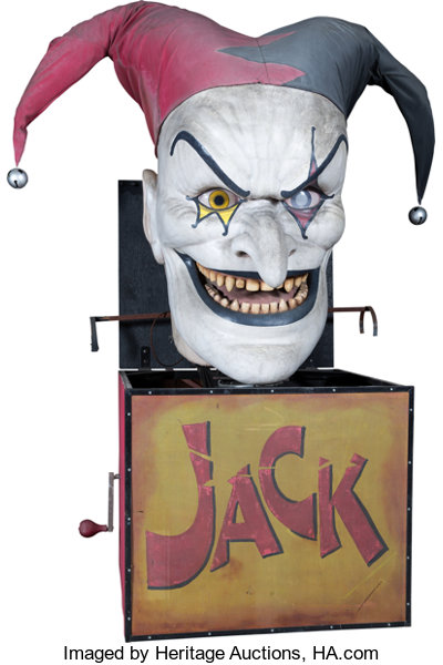Halloween Jack In The Box Prop.Evil Jack In A Box Scary Farm Prop C 2000s Memorabilia Lot