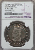 Colombia, Colombia: Cundinamarca 8 Reales 1821 BA-JF VF Details(Obverse Damage) NGC,...