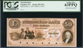 Obsoletes By State:Massachusetts, Pittsfield, MA- Pittsfield Bank $50 June 1, 1857 G22c Proof. ...