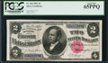 Large Size:Silver Certificates, Fr. 246 $2 1891 Silver Certificate PCGS Gem New 65PPQ.. ...