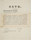 Militaria:Ephemera, [Texas C.S.A.]. Galveston County Unengrossed Soldier's Enlistment Certificate....