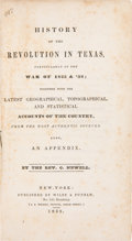 Books:Americana & American History, Reverend Chester Newell. History of the Revolution in Texas, Particularly of the War of 1835 & '36; Together With the La...