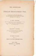 Books:Americana & American History, [Zebulon Montgomery Pike] [Elliott Coues, editor]. TheExpeditions of Zebulon Montgomery Pike, to Headwaters of the Mis...(Total: 3 Items)