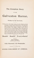 Books:Americana & American History, John Coulter, editor. Salesman Sample. The Complete Story of theGalveston Horror. Written by the Survivors. [No...