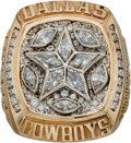 Football Collectibles:Others, 1995 Dallas Cowboys Super Bowl XXX Championship Ring Presented to Linebacker Dixon Edwards....