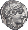Ancients:Greek, Ancients: ATTICA. Athens. Ca. 454-404 BC. AR tetradrachm (24mm, 17.20 gm, 9h). NGC MS ★ 5/5 - 5/5....