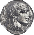 Ancients:Greek, Ancients: ATTICA. Athens. Ca. 454-404 BC. AR tetradrachm (24mm,17.20 gm, 7h). NGC MS 5/5 - 5/5....