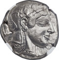 Ancients:Greek, Ancients: ATTICA. Athens. Ca. 475-465 BC. AR tetradrachm (24mm,17.19 gm, 7h). NGC AU ★ 5/5 - 5/5, Fine Sty...