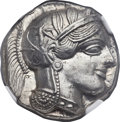 Ancients:Greek, Ancients: ATTICA. Athens. Ca. 454-404 BC. AR tetradrachm (25mm,17.18 gm, 8h). NGC MS 5/5 - 5/5....