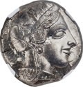 Ancients:Greek, Ancients: ATTICA. Athens. Ca. 454-404 BC. AR tetradrachm (25mm,17.22 gm, 6h). NGC MS 5/5 - 5/5....