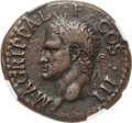 Ancients:Roman Imperial, Ancients: Marcus Agrippa, friend of Augustus (died 12 BC). Æ as(28mm, 10.76 gm, 7h). NGC Choice VF ★ 5/5-5...