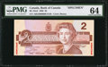 Canadian Currency: , BC-55aS $2 1986 Specimen.. ...