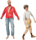 Memorabilia:Miscellaneous, Ghost Town/Calico Mine Ride Mannequin Group of 2 (c. 1940s)....(Total: 2 Items)