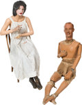 Memorabilia:Miscellaneous, Ghost Town Peek In Mannequin Group of 2 (c. 1940s-70s).... (Total:2 Items)