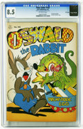 "Golden Age (1938-1955):Funny Animal, Four Color #143 Oswald the Rabbit -- File Copy (Dell, 1947) CGC VF+8.5 Off-white pages. ""Oswald the Rabbit and the Prehisto..."