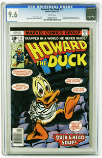 Howard the Duck #12 (Marvel, 1977) CGC NM+ 9.6 White pages. First comic book appearance of the band Kiss. Gene Colan cov...