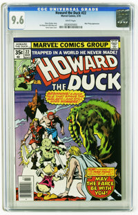 Howard the Duck #22 (Marvel, 1978) CGC NM+ 9.6 White pages. Man-Thing appearance. Gene Colan cover. Val Mayerik and Bill...