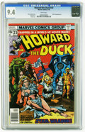 Bronze Age (1970-1979):Cartoon Character, Howard the Duck #23 (Marvel, 1978) CGC NM 9.4 White pages.Man-Thing appearance. Gene Colan cover. Val Mayerik art.Overstre...
