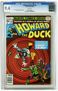 Bronze Age (1970-1979):Cartoon Character, Howard the Duck #25 (Marvel, 1978) CGC NM 9.4 White pages. GeneColan cover. Colan and Klaus Janson art. This is currently t...