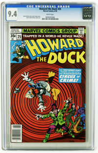 Howard the Duck #25 (Marvel, 1978) CGC NM 9.4 White pages. Gene Colan cover. Colan and Klaus Janson art. This is current...