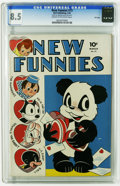 Golden Age (1938-1955):Funny Animal, New Funnies #73 File Copy (Dell, 1943) CGC VF+ 8.5 Cream tooff-white pages. Overstreet 2005 VF 8.0 value = $163; VF/NM 9.0 ...
