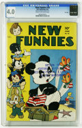 Golden Age (1938-1955):Funny Animal, New Funnies #76 File Copy (Dell, 1943) CGC VG 4.0 Cream tooff-white pages. Andy Panda with Carl Barks art. WoodyWoodpecker...