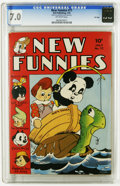 Golden Age (1938-1955):Funny Animal, New Funnies #77 File Copy (Dell, 1943) CGC FN/VF 7.0 Off-white pages. Walt Kelly cover. Overstreet 2005 FN 6.0 value = $69; ...
